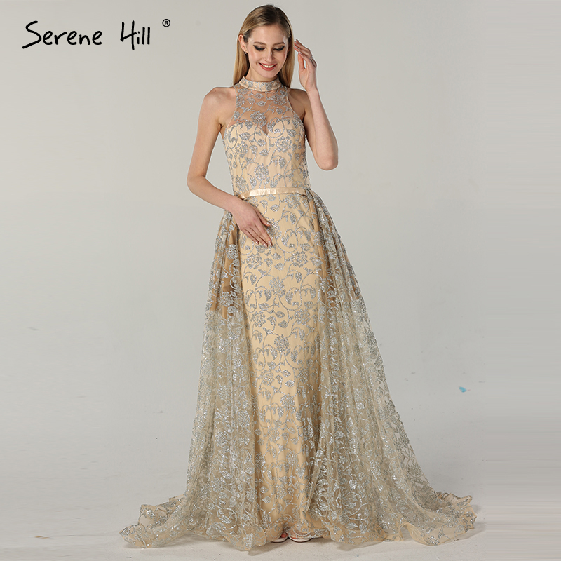 1fea0ba04d9 Newest Sleeveless Mermaid Vintage Tulle Evening Dresses Luxury Sparkle Fashion  Sexy Evening Gowns 2019 Serene Hill LA6085