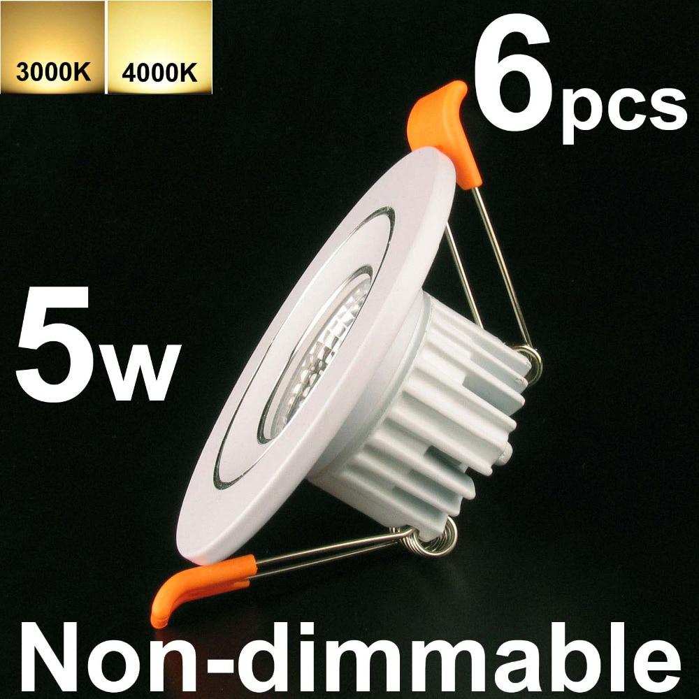 2 светодиодный встраиваемый светильник потолочный свет панели COB нерегулируемых 6 Вт (эквивалент 50 Вт) 6 шт. pack