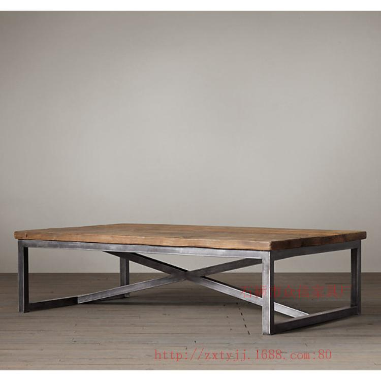 uts iron aiji american country retro furniture wood coffee table living room furniture manufacturers special customized american retro style industrial furniture desk