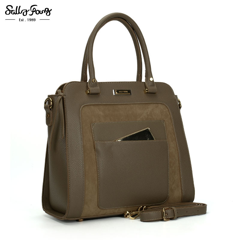 Sally Young International Brand Fashion Business Patchwork Tote Women Bag Vintage Lady Shoulder Handbags by Designer SY2116 international business theory and international economy