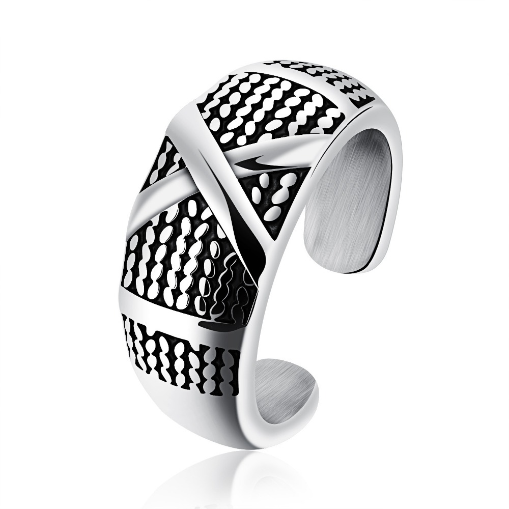 new Stainless steel men's rings Tan men's ring Fashion forward rock song, Europe and the United States punk image