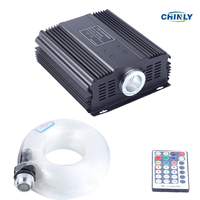 DMX 45W RGB 28key remote LED Fiber Optic star ceiling kit light 1000pcs 5m 0.75mm for light fixture of ceiling