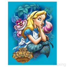 5D DIY Diamond Embroidery Little girl and big cat Full Square/ Round Painting Cross stitch crystal Wall