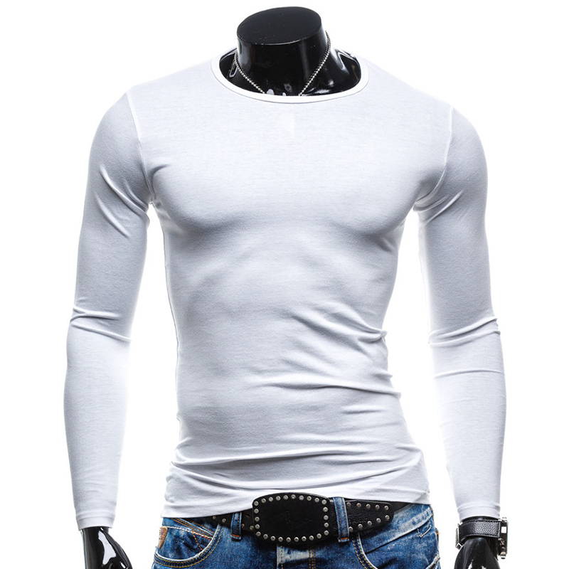 red T Marque Casual Q Couleur T 2018 Slim Tendance green Hommes White cou Printemps O Shirt Mode Fit black yellow shirt Solide Manches Chemises Hongmiao À Longues Nouveau navy fI7qa