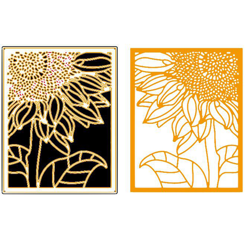Huge Flower Frame Metal Cutting Dies Stencils For DIY Scrapbooking Decorative Embossing Suit Paper Cards Die Cutting Template in Cutting Dies from Home Garden