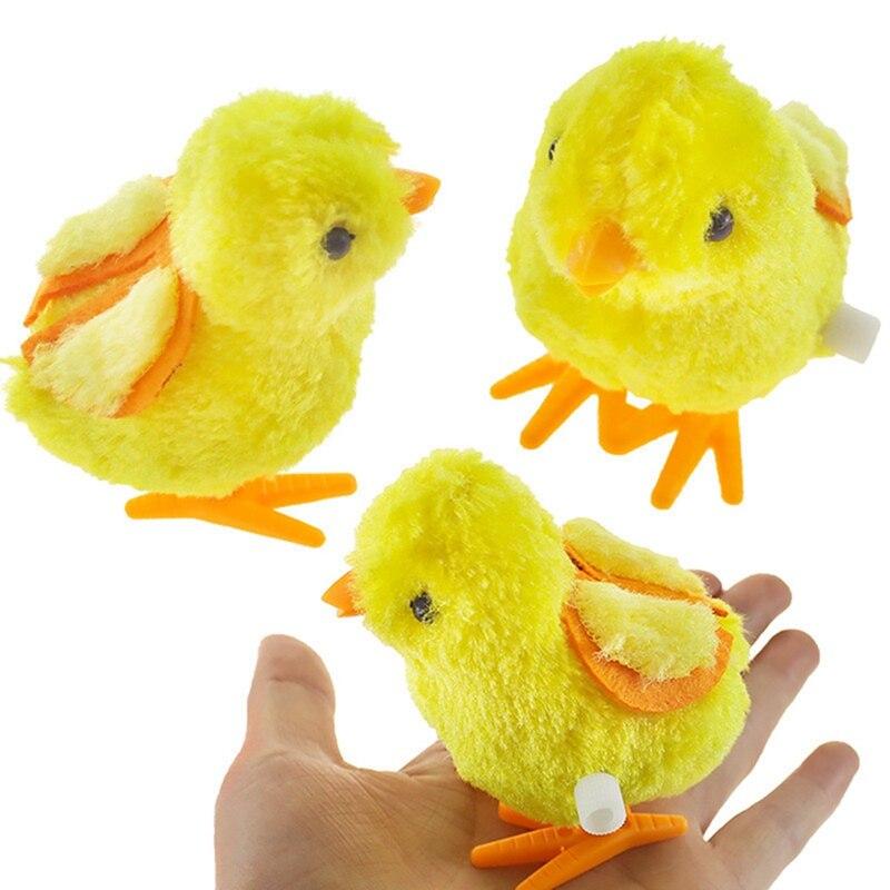Toys Chicks Clockwork Wind-Up Baby Walking Kids Educational-Toy Jumping Plush Cute