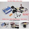 Car Parking Sensors + Rear View Back Up Camera = 2 in 1 / BIBI Alarm Parking System For SEAT Ibiza 2009~2015