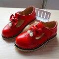 2016 'crian ças em alta qualidade de couro sapatos Princesa sapatos meninas