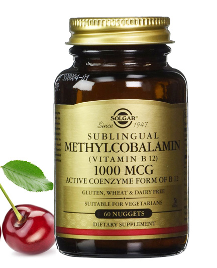 SOLGAR Sublingual Methylcobalamin (vitamin B 12)1000 mcg Active ...