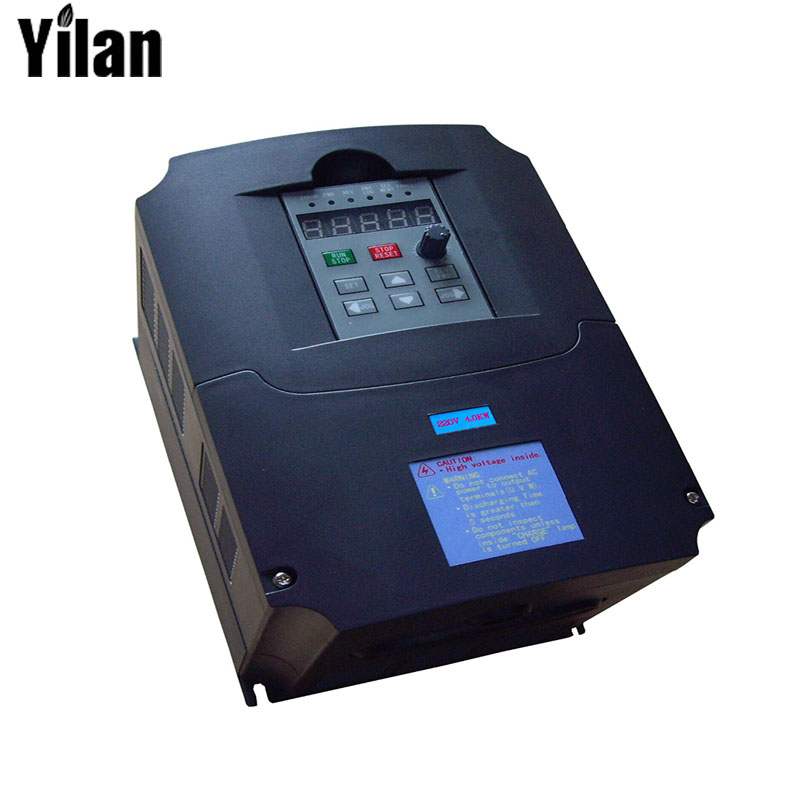 Inverter,7500 watt (7.5KW) , input 220V output 380V Variable Frequency Drive for 7KW Motor Speed Control, Drive Capacity: 14KVA 7 5kw 220v 10hp top quality frequency inverter for spindle motor speed control