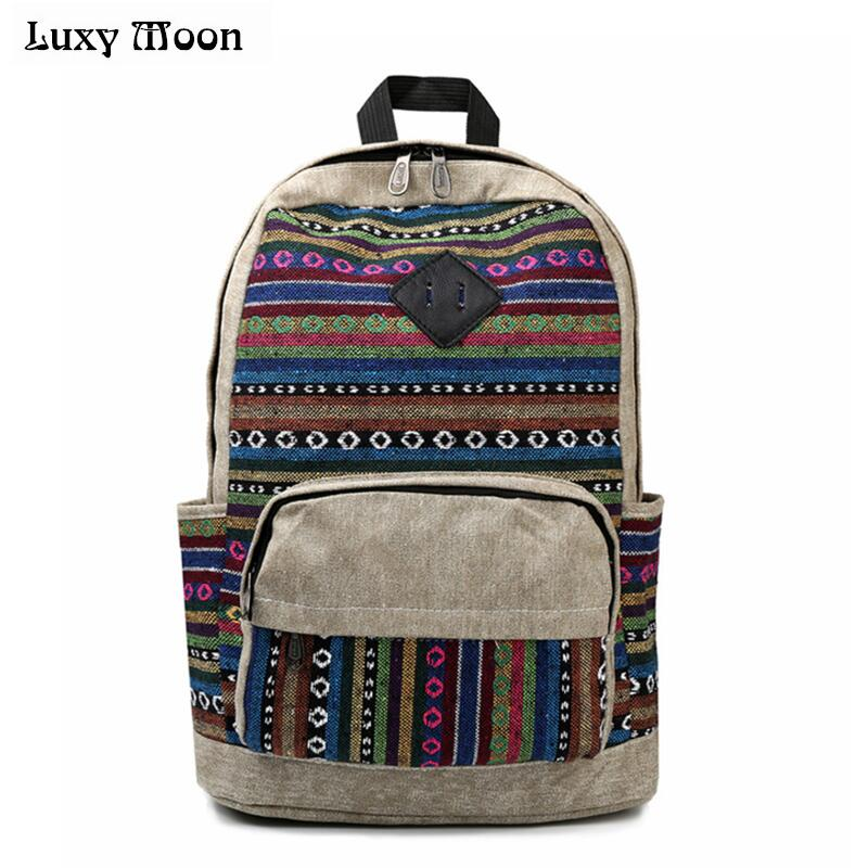 Luxy Moon New Canvas Women Backpacks School Bags for Teenagers Girls Bolsas Mochilas Escolares Feminina Rucksacks women bag w516 картридж epson original t559440 желтый для мфу rx700 515 стр
