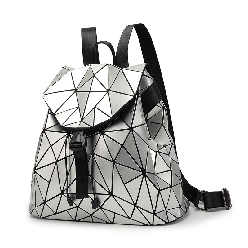 Women Backpack Feminine Geometric Plaid Sequin Female Backpacks For Teenage Girls Bagpack Drawstring Bag Holographic Backpack women backpack mochila geometric plaid sequin female backpacks for teenage girls bagpack drawstring bag holographic bag pack