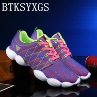 BTKSYXGS Lovers Women S Flats Shoes 2017 New Spring Autumn 35 44 Fashion Comfortable Breathable Mesh