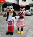 MC03 M  New Adult Mickey or Minnie Mouse Mascot Costumes Fancy Dress Suit EVA Material EMS Shipping Wholesale for 1 Piece