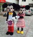 MC03 M New Adulto Mickey ou Minnie Mouse Trajes Da Mascote Fancy Dress Suit Material EVA EMS Grátis Atacado para 1 peça