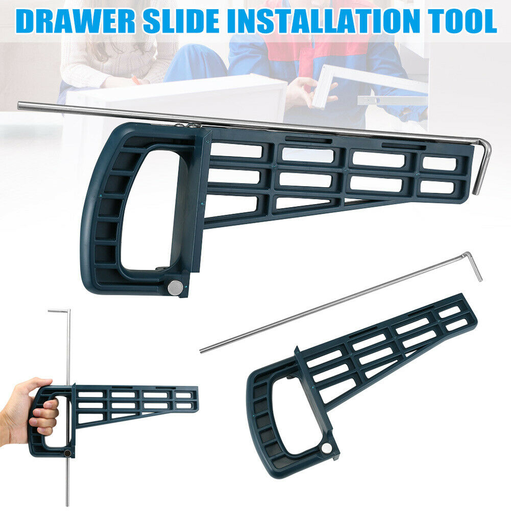 Universal Drawer Slide Jig cabinet Mounting Tool For Cabinet Furniture Extension Cupboard Hardware Install Guide Slides     - title=