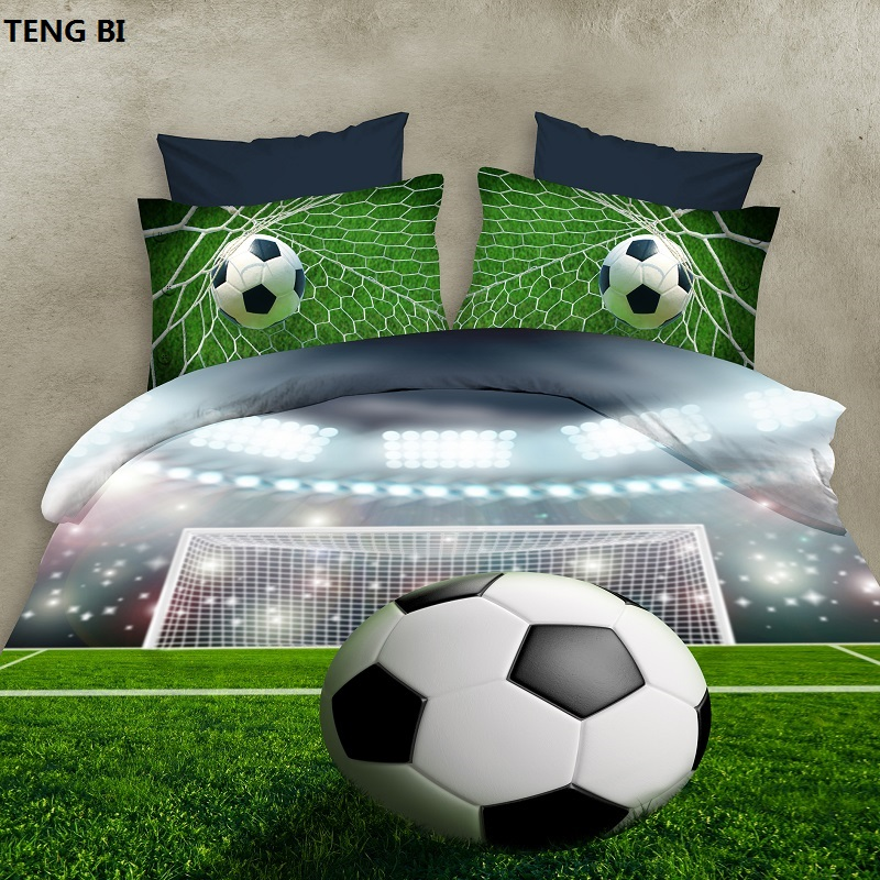 2016 new 3D bedding sets of football, flowers, queen size, family sets of 4 sets of quilt / bed sheets / pillowcase large2016 new 3D bedding sets of football, flowers, queen size, family sets of 4 sets of quilt / bed sheets / pillowcase large