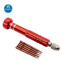 6 in 1 Schraubendreher-set DIY Telefon Eröffnung Reparatur Werkzeug 1 Griff mit 5 stücke austauschbare Fahrer Tipps Phillips Torx 5 punkt Sterne