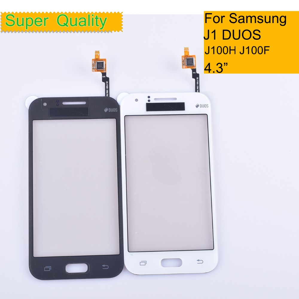 10Pcs/lot For Samsung Galaxy J1 J100 J100F J100H Touch Screen Panel Sensor Digitizer Outer Glass Lens NO LCD Touchscreen