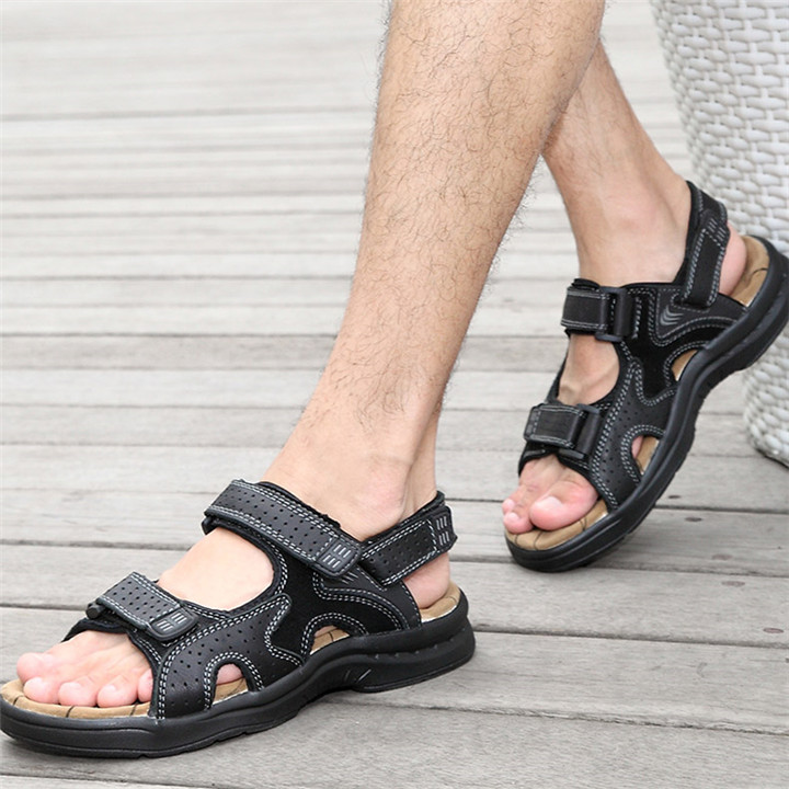 HTB1NLP9bcfrK1Rjy0Fmq6xhEXXa5 - ROXDIA Genuine Leather New Fashion Summer Breathable Men Sandals Beach Shoes Men's Causal Shoes Plus Size 39-44 RXM002