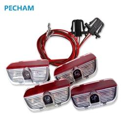 4 stücke LED Tür 3D schatten Auto licht logo Auto lampe mit projektion funktion für VW TIGUAN CC Golf MK6 JETTA MK5 PASSAT B6 B7