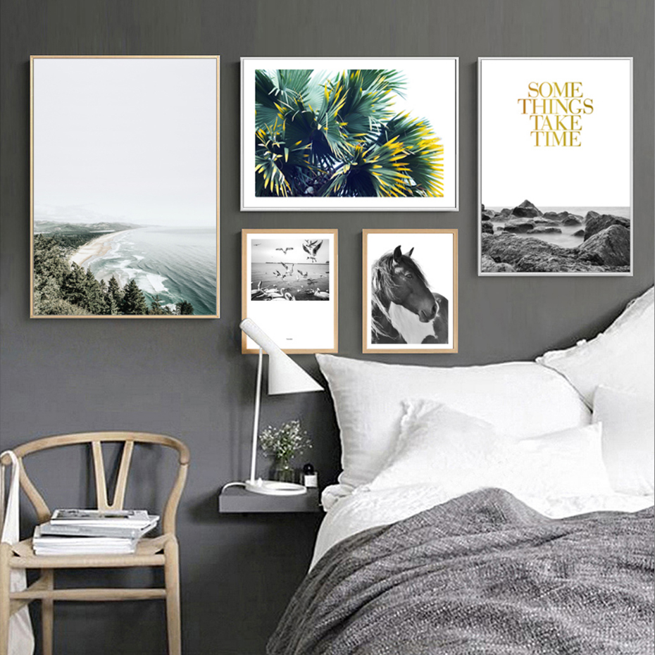 Paysage Abstrait Toile Peintures Noridc Inspirer Wall Art Photos Scandinavie Affiche Print Salon Home Decor No Frame