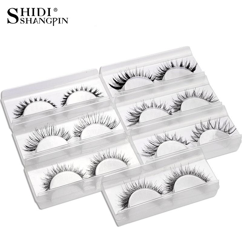 Hot 7 Pairs Mix False Eyelashes Kit 7 styles Fake Eye Lashes Makeup Beauty Eyelash Extension Faux Lashes Wispies Eyelashes V-20