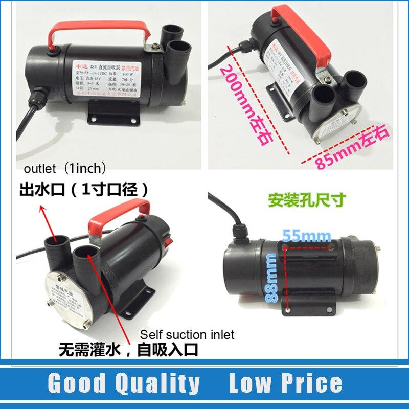 Pompe à huile 12 V DC petite pompe de transfert de mazout domestique