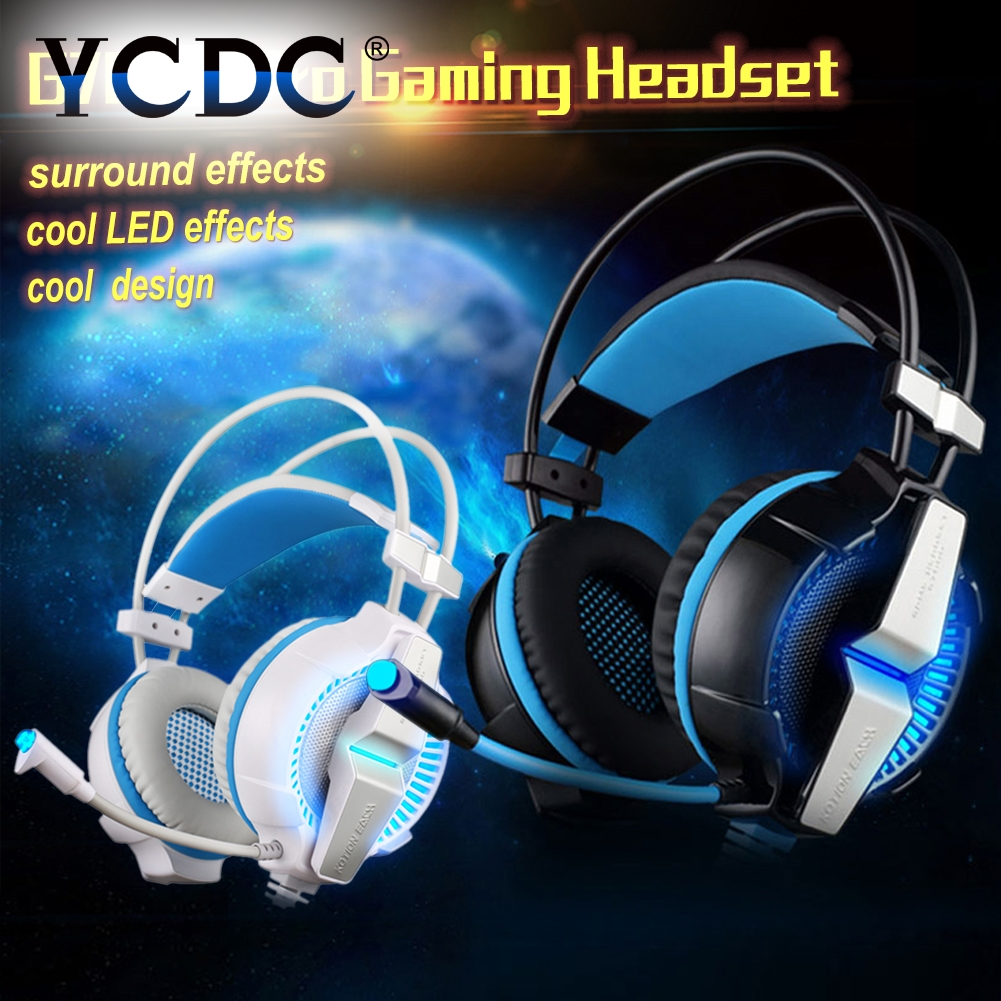 Pro Gamer Gaming Headphone Each G7000 LED Earphone Microphone Surround Heavy Bass Vibrated for PS4 PC Computer  gaming headset each g1100 shake e sports gaming mic led light headset headphone casque with 7 1 heavy bass surround sound for pc gamer