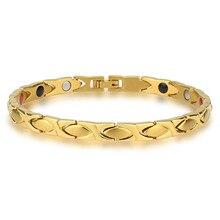 купить New Bracelet Titanium Steel Magnet Titanium Gold Bracelet for Men and Women Four In One Fashion Original Bracelet XCY213 по цене 1427.02 рублей