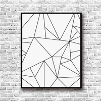 SURELIFE Geometric Abstract  Canvas Art Wall Painting Posters and Prints Kids Room Decoration Pictures Home Decor Unframed