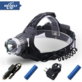 2015 New cree xm l t6 lantern headlamp High quality Rechargeable led headlight acampada linterna frontal HT403