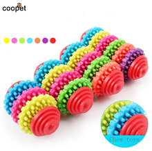 COOPET Rubber Chew Pet Dog Toys Puppy Cat Cleaning Teeth Gums Chew Gear Toy Chew Training Tool For Small Dogs juguete perro