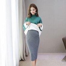 Весенне-осенние модные юбки для беременных, тянущиеся юбки для беременных, Одежда для беременных