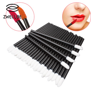 50pcs Disposable Lip Brush Wholesale Applicator Lipstick Make Up Brushes Set Maquillage Lip Brush Make Up Tool(China)