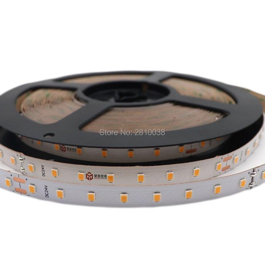 120 M/Lot CRI95 courant constant intégré bande de lumière LED flexible IC SMD2835 DC24V 15.36 W/M ampoules LED 10mm de large 128led/M ruban LED