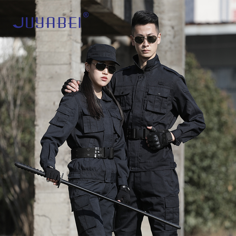 Military Suit Male Commando Outdoor Combat Training Suit Black Long-sleeved Security Training Suit Camouflage Field Suit Female