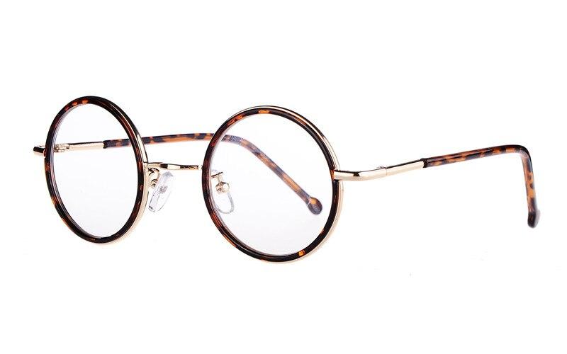 409a5e8e1968c Agstum Das Mulheres Dos Homens 43mm Redonda Pequena Pronto Óculos De Lente  Clara Óculos de Armação Óculos Óculos de Prescrição Rx capaz em Armações de  ...