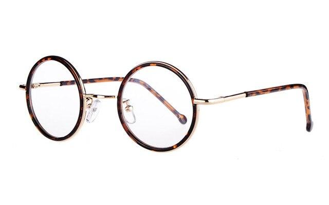 5530ba9f5c7de Agstum Das Mulheres Dos Homens 43mm Redonda Pequena Pronto Óculos De Lente  Clara Óculos de Armação