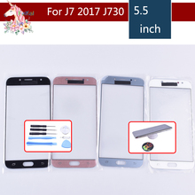 For Samsung Galaxy J7 Pro 2017 J730 J730F SM-J730F SM-J730G/DS Touch Screen Front Glass Panel TouchScreen LCD Outer Lens j7 2017 мобильный телефон samsung galaxy j7 neo sm j 701 f ds черный