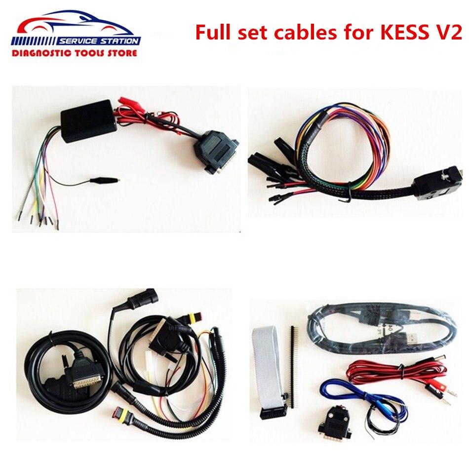 Prix pour Professionnel KESS V2 ensemble complet câbles pour kess v4.036 avec haute qualité Kess V2.31 câbles livraison gratuite