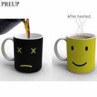 PREUP 2017 High Quality 350ml Heat Changing Color Cup Mug Sensitive Coffee Tea Cup Magic Hot