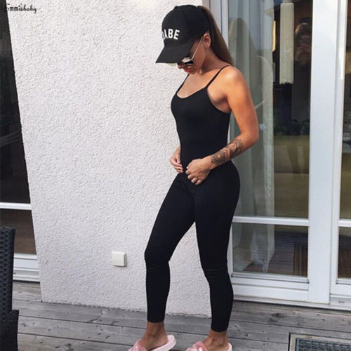 GLANE Woman One Piece Yoga Gym Fitness Sleeveless Slim Suit Workout Active Jumpsuits 1