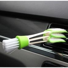 1 قطعة طويلة دائم 2 في 1 مزدوجة المنزلق سيارة مكيف الهواء منفذ تنظيف أداة المخرج نافذة تنظيف متعددة الأغراض فرشاة
