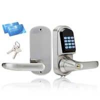 Serrure de porte électronique intelligente clavier Intelligent serrure de porte sûre serrure de casier numérique déverrouiller par Code, 2 carte M1, clé mécanique