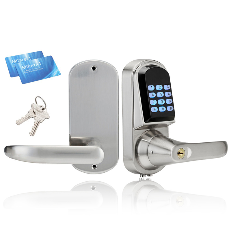 Intelligent Electronic Door Lock Smart Keypad Safe Door Lock Digital Locker Lock Unlock By Code, 2 M1 Card, Mechanical Key l5pc plus electronic door lock smart cylinder lock lock cylinder unlock by card code app