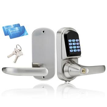 Intelligent Electronic Door Lock Smart Keypad Safe Door Lock Digital Locker Lock Unlock By Code, 2 M1 Card, Mechanical Key
