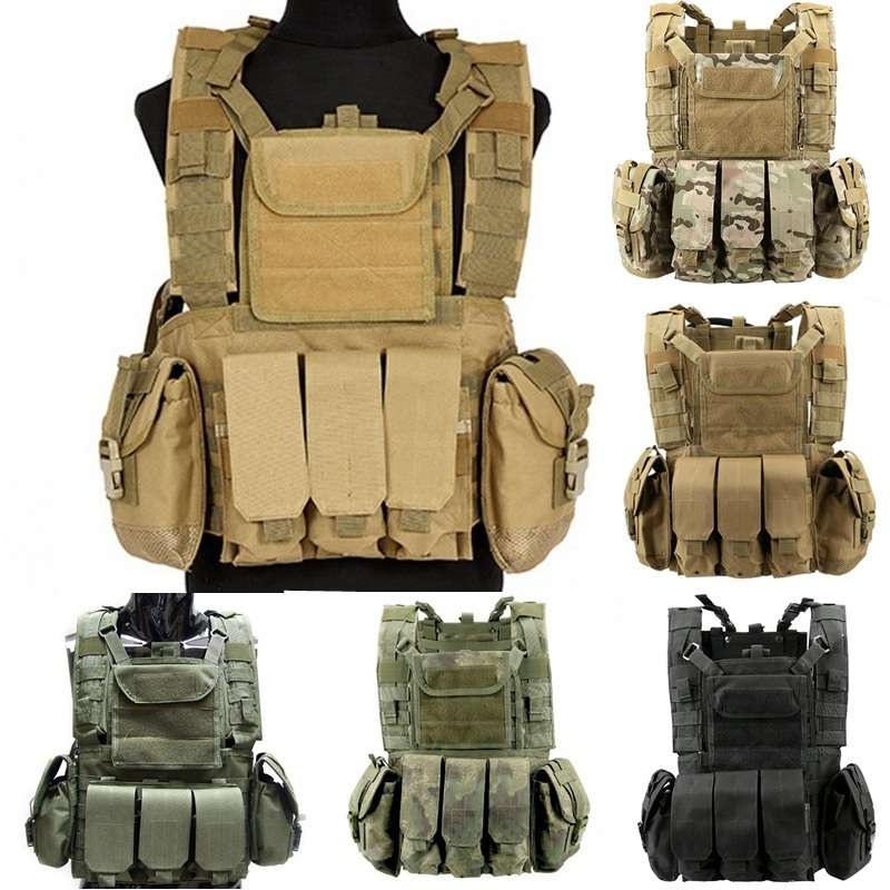 CQC RRV Canteen Hydration Airsoft Tactical Molle Vest Combat Assault Chest Rig Military Paintball Hunting Carrier Vest wosport military hunting vest enhanced tactical 500dnylon molle jpc shooting game body armor rig plate carrier airsoft paintball