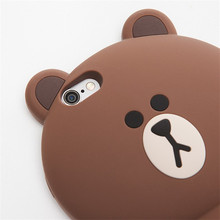 Cony, Sally and Brown bear big 3D silicone Phone Case for iPhone 6 6s 7 8 Plus X XS