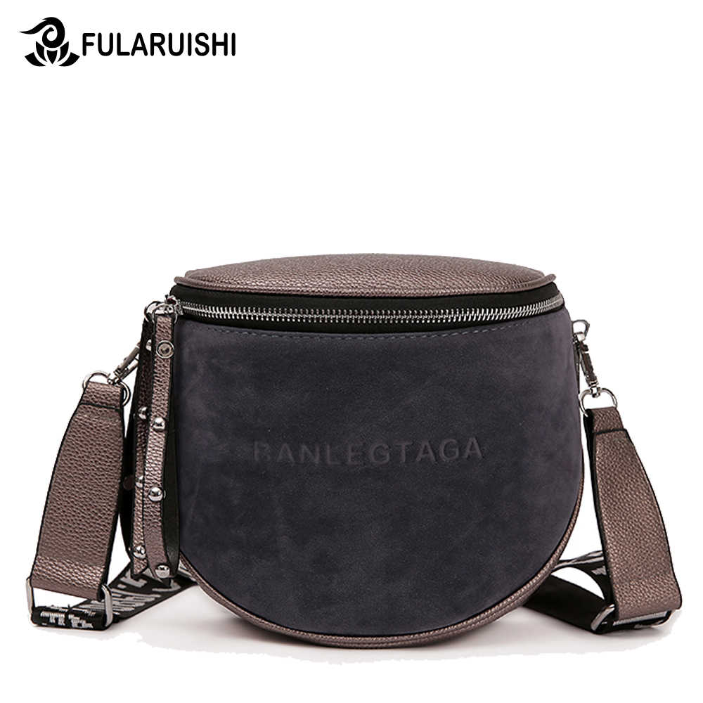 c5ce65707db1 Fularuishi Crossbody Bag For Women Messemger Bags Pu Leather Shoulder Bag  Fashion Famous Brand Lady Semicircle Saddle